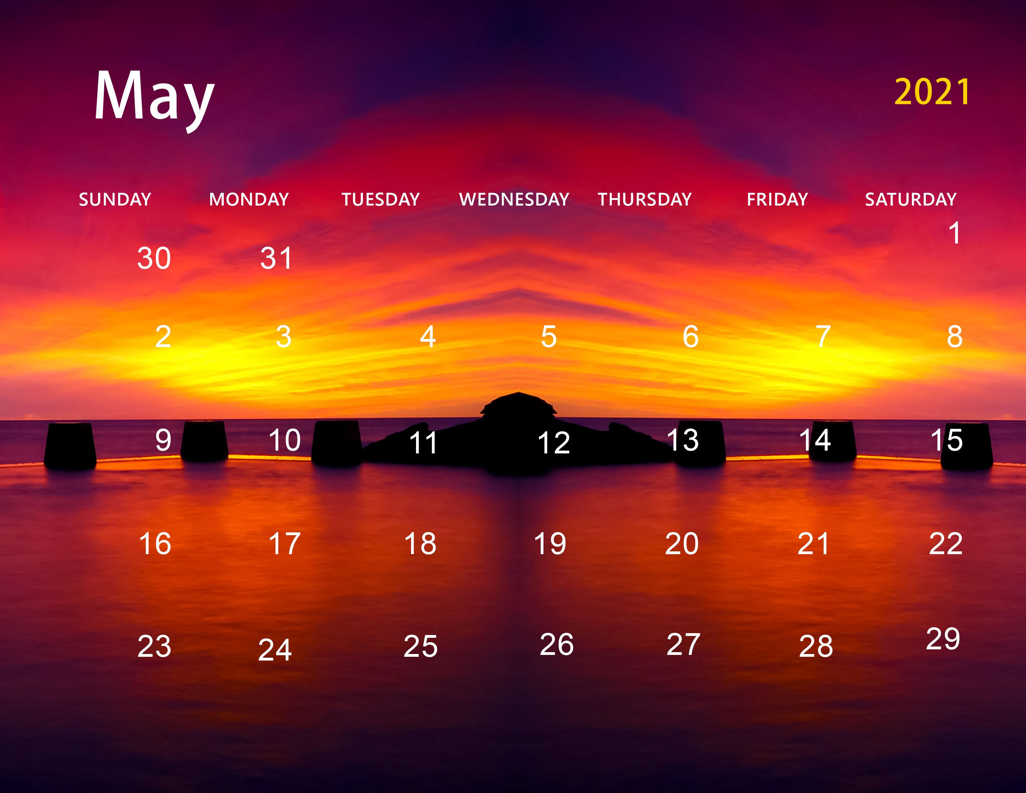 Cute May 2021 Calendar