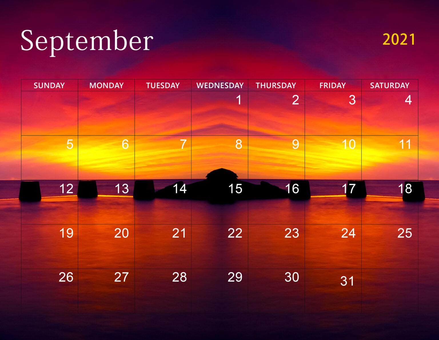 Cute September 2021 Calendar